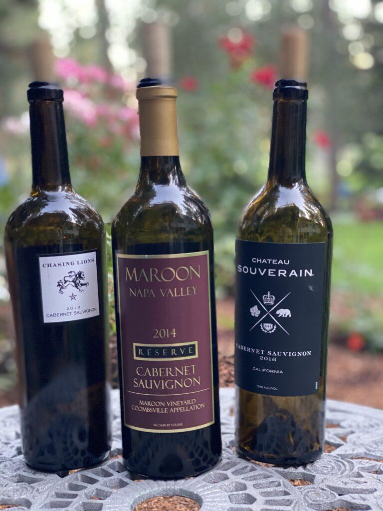 Episode 19 – Cabernet Sauvignon Taste Off – Chasing Lions, Maroon and Chateau Souverain