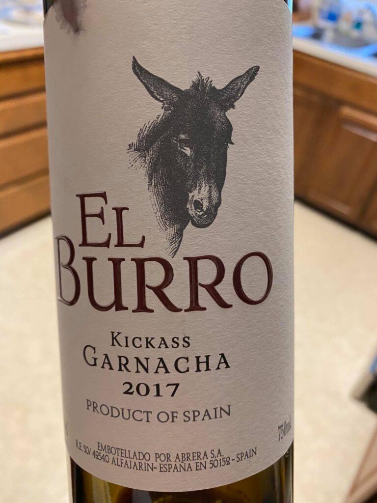 2017 El Burro Kickass Garnacha