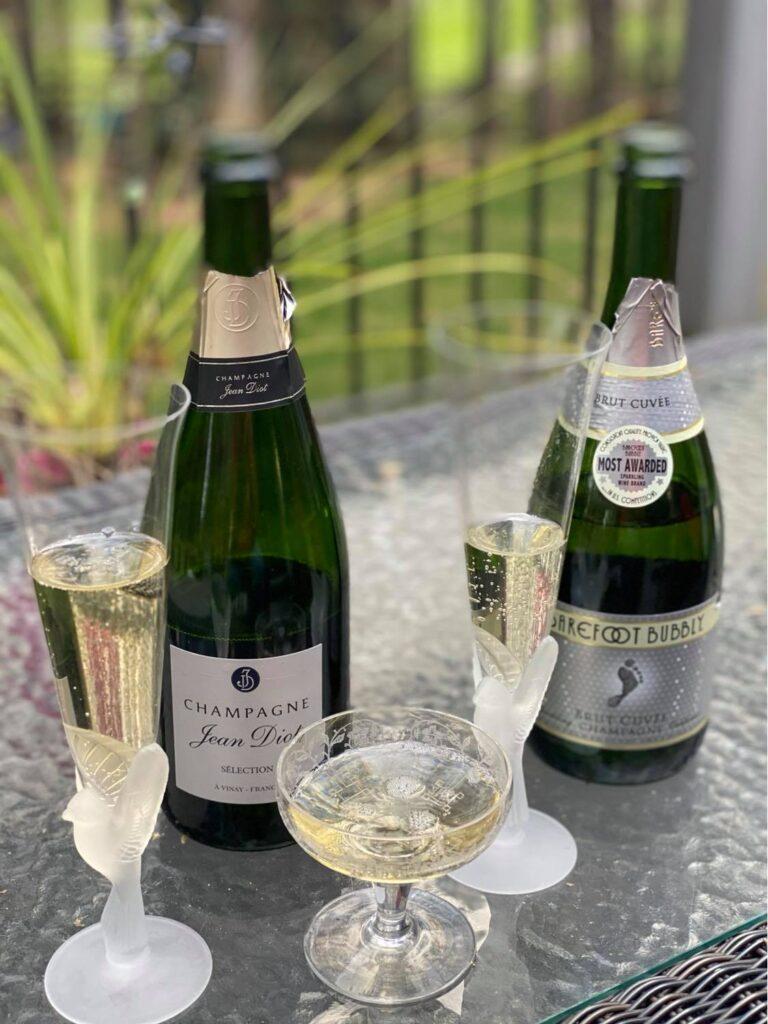 Champagne vs Barefoot in Blind Tasting